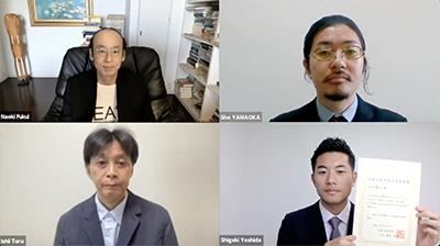 2020年度発表賞授賞式-吉田